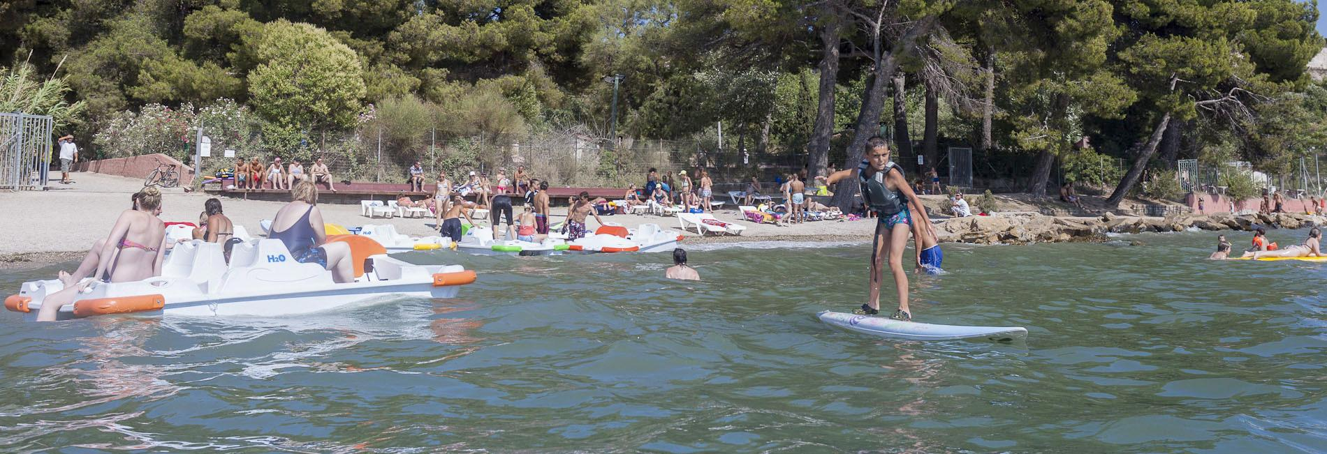 Vue plage - Camping Marina Plage